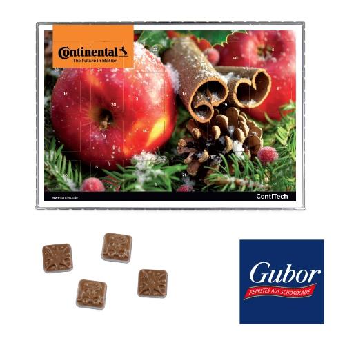 Premium tisch adventskalender mit gubor schokolade 4 c for Design tisch adventskalender