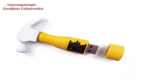 USB-Stick in Sonderform Hammer